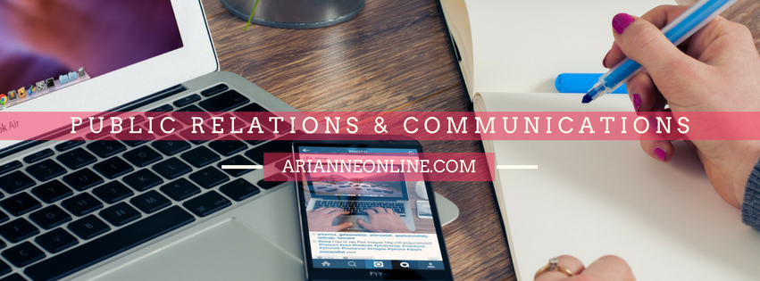 Arianne Online – Public Relations and Communications